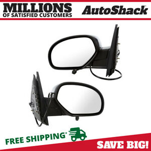 Pair Power Heated Folding Side Mirrors For 2007 2014 Chevrolet Tahoe Gmc Yukon