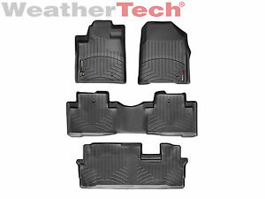 Weathertech Floorliner Floor Mat Honda Pilot 2009 2015 1st 2nd 3rd Row Black