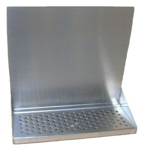 Draft Beer Tower Wall Mt Drip Tray 15 Long W S s Grill Drain Dtwm15ss