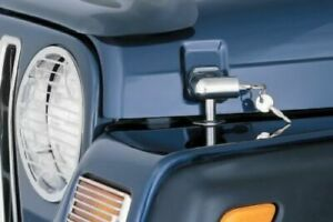Smittybilt 7591 Locking Hood Catch Kit Chrome For 97 06 Wrangler
