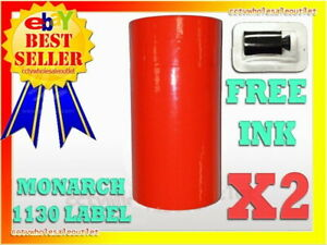 Fluorescent Red Label For Monarch 1130 Pricing Gun 1 Sleeve 10 Rolls