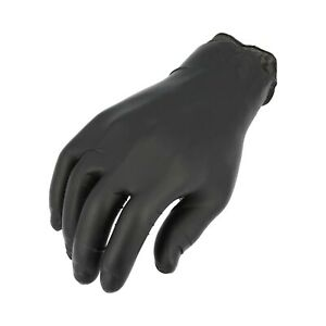 1000 Nitrile Industrial Disposable Gloves Small 10 Boxes Of 100 Gloves Black