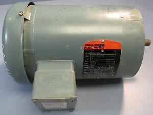 Reliance Electric 3 Phase Motor Model P56x1333 230 460v 0 5 Hp Nwob