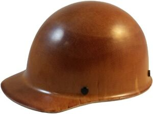 Msa Skullgard Cap Style Hard Hat With Ratchet Suspension Natural Tan Color