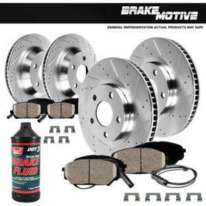 For 2006 Bmw 325i E90 Front Rear Drill And Slot Brake Rotors Ceramic Pads