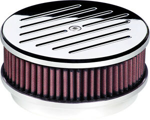 Billet Specialties Ball Milled Polished Aluminum Air Cleaner small Round 6 3 8