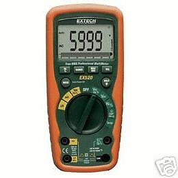 Extech Ex520 Heavyduty Waterproof True Rms Dmm Thermometer