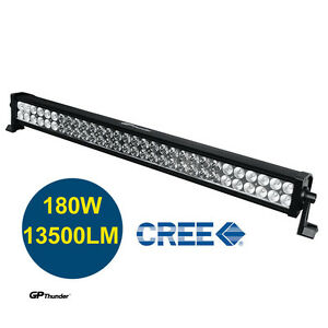 33 Inch 6000k Off Road 180w Cree Led Fog Lamp Work Light Bar Suv Jeep 4wd Drl