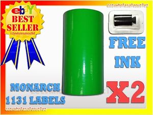 2 Sleeves Fluorescent Green Label For Monarch 1131 Pricing Gun 2 Sleeves 16rolls
