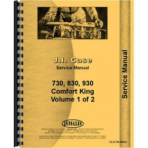 New Case 930 Tractor Service Manual comfort King