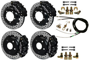 Wilwood Disc Brake Kit 76 77 Ford Bronco 13 Drilled Rotors e brake Cable lines