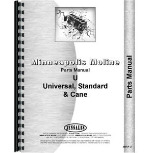Parts Manual Made For Minneapolis Moline Tractor Model Uts 1947 1951