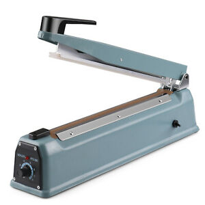8 200mm Manual Impulse Heat Sealer Poly Bag 350w W Element Grip