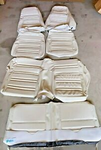 1970 Ford Mustang Fastback Full Seat Upholstery Standard White Buckets