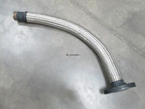 Braided Stainless Steel Hose 2 npt To 2 45 id Flange 34 Long