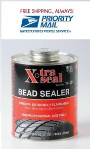 X tra Seal Tire Bead Sealer Black W brush Top Can 1 Quart Professional Usa