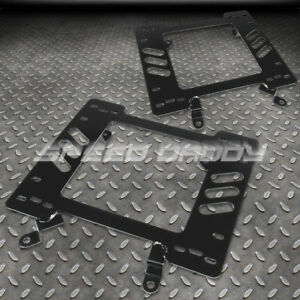 For 79 98 Ford Pony Mustang Racing Seat Base Mount Mild Steel Bracket Adapter