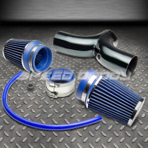 For Corvette C5 Ls1 Ls6 Jeep Short Ram Dual Intake Piping Blue Air Filter System