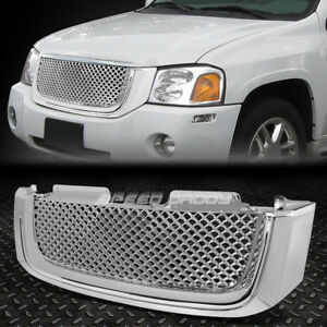02 08 Gmc Envoy Chrome Front Hood Bumper Bentley Style Grill grille Cover Guard