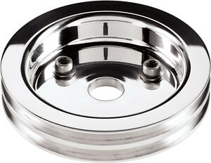 Billet Specialties Bbc Polished Crankshaft Pulley Short Wp 2 V Belt Grooves