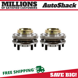 Pair Of 2 Front Wheel Hub Bearings Set Fits Nissan 03 07 Murano 04 09 Quest
