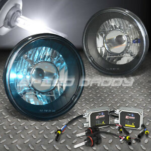 7x7 Round Black Housing Projector Headlight 6000k Hid Bulbs ballast For Nova