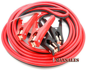 16ft Heavy Duty 8 Gauge Booster Jumper Cables Auto Car Jumping Cables