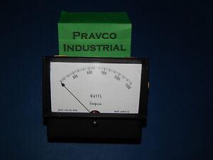 Simpson 0 1500watts Panel Mount Meter 4 1 2 4 5 Face Diameter 10amp 300volt