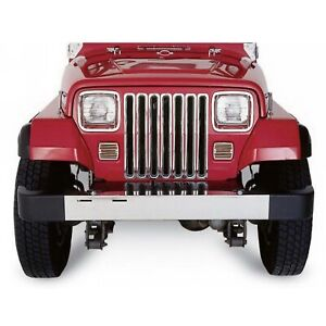 Rampage 7511 Chrome Snap in Grille Inserts For 1997 2006 Jeep Wrangler Tj