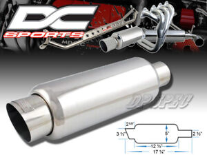 Dc Sports 3 5 Stainless Steel Exhaust Performance Muffler For Nissan Scion