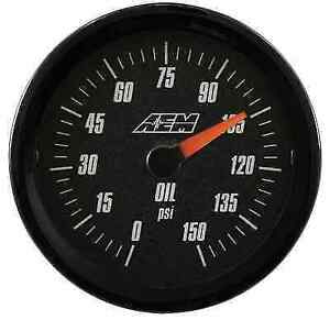 Aem Electronics 30 5135 Fuel Oil Pressure Gauge 0 To 150 Psi With Analog Face