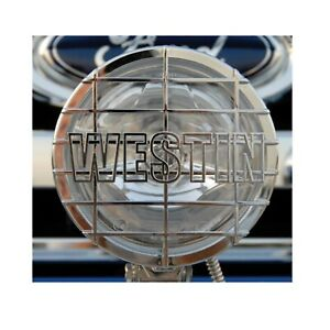 Westin 09 0500 Chrome 6 Off Road Quartz Halogen Lights W Grid