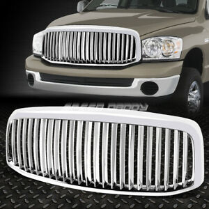 Chrome Vertical Front Bumper Grill Grille For Dodge Ram 1500 2500 3500 2006 2008