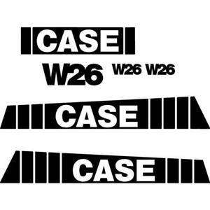 New Case Wheel Loader W26 Decal Set