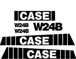 New Case Wheel Loader W24b Decal Set