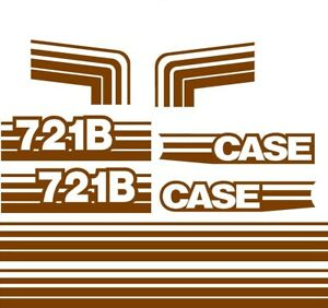 New Case Wheel Loader 721b Brown Decal Set