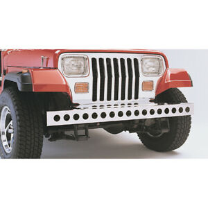 Fits Jeep Wrangler Yj 1987 1995 Stainless Bumpers Front 11107 02