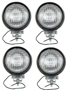 Four 4 Flood Lamp Lights Made To Fit Allis Chalmers D17 D19 180 190 200