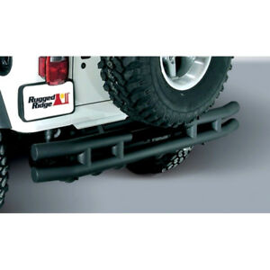 Rear Tube Bumper Textured Black For Jeep Wrangler Tj Yj 87 06 Rugged Ridge