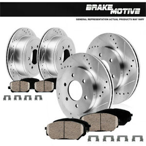 Front Rear Brake Rotors Ceramic Brakes Chevy Silverado 1500 Gmc Sierra Yukon