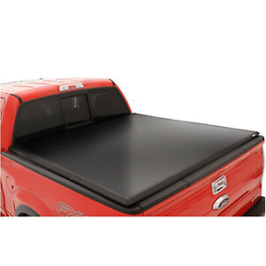 Lund 95065 Black Vinyl Tri Fold Tonneau Cover For Dodge Ram 1500 5 5 Ft Bed
