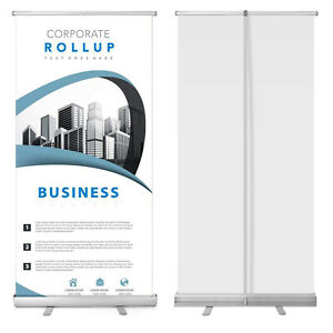 Retractable 33 x79 Roll Up Banner Stand Trade Show Sign Signage Display W Bag