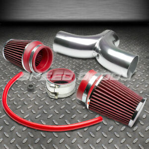 For Corvette C5 Jeep Wj Kj Dakota Dual Twin Intake Induction Pipe Red Air Filter