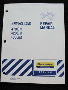 New Holland 410gm 420gm 430gm Flex Wing Finish Mower Service Repair Manual