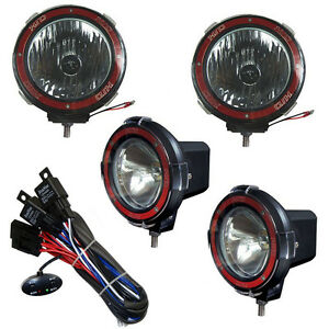 4 Inches 4x4 Off Road 6000k 55w Xenon Hid Fog Lamp Light 2 Flood 2 Spot Relay