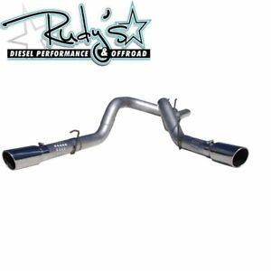 Mbrp 4 Al Dpf Back Dual Exhaust For 2008 2010 Ford 6 4l Powerstroke Diesel