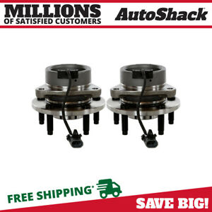 Front Pair 2 Wheel Hub Bearing Assembly For 05 10 Chevrolet Cobalt W Abs 5 Lug