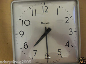 Vintage Simplex Wall Clock Convex Glass School Industrial Garage 804 006 8335