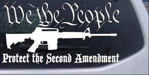 Protect The Second Amendment Ar 15 Car Or Truck Window Laptop Decal Sticker
