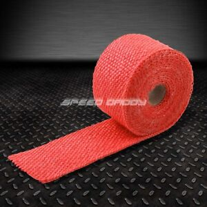 15ft 180 l 2 w Exhaust Header Turbo Manifold Pipe Red Heat Shield Wrap Tape